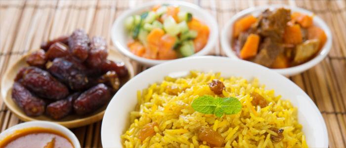 Lamm mit Datteln und Reis, Ägyptsiches Essen im Ramadan