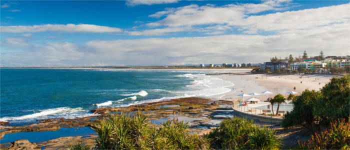 Strand an der Sunshine Coast