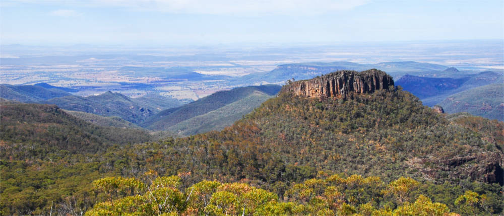 Berglandschaft in Country New South Wales