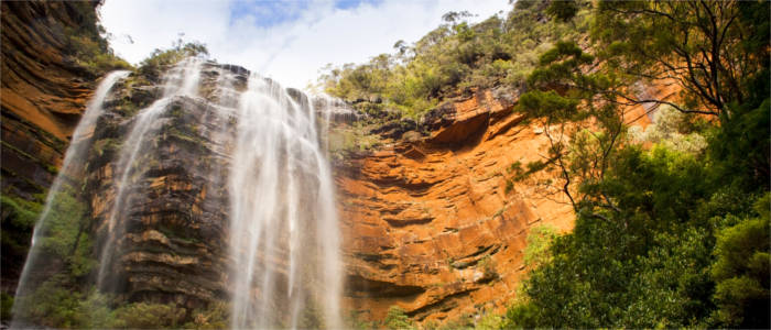Wasserfall in den Blue Mountains