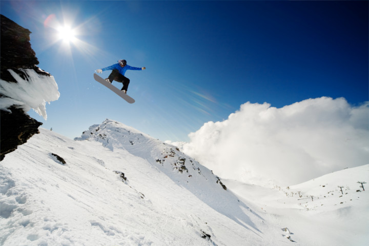 Actionsport in Neuseeland - Snowboarden