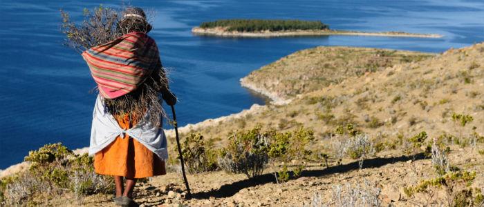 Frau in Bolivien