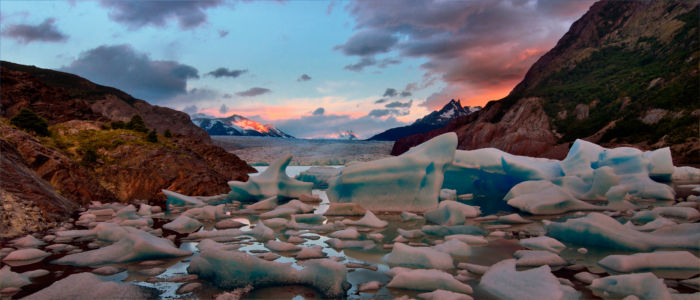 Glacier Grey im Nationalpark Torres del Paine, Chile