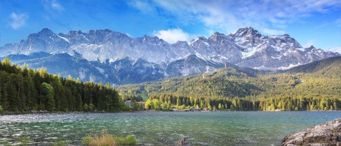 Die Zugspitze in den deutschen Alpen
