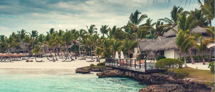 Haus am Strand der Dominikanische Republik