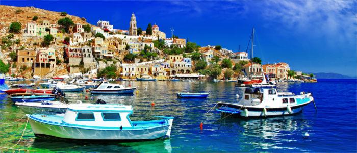 Griechische Insel Symi in der Ägäis