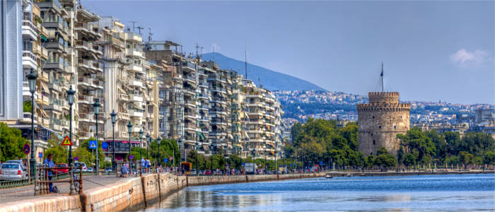 Thessaloniki in der Region Makedonien
