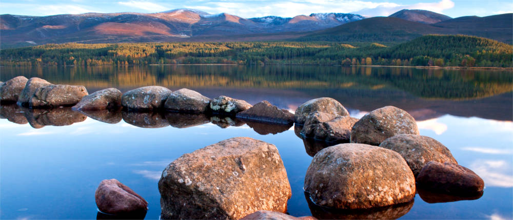 Cairngorms in den schottischen Highlands