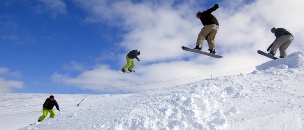Wintersport in den schottischen Highlands
