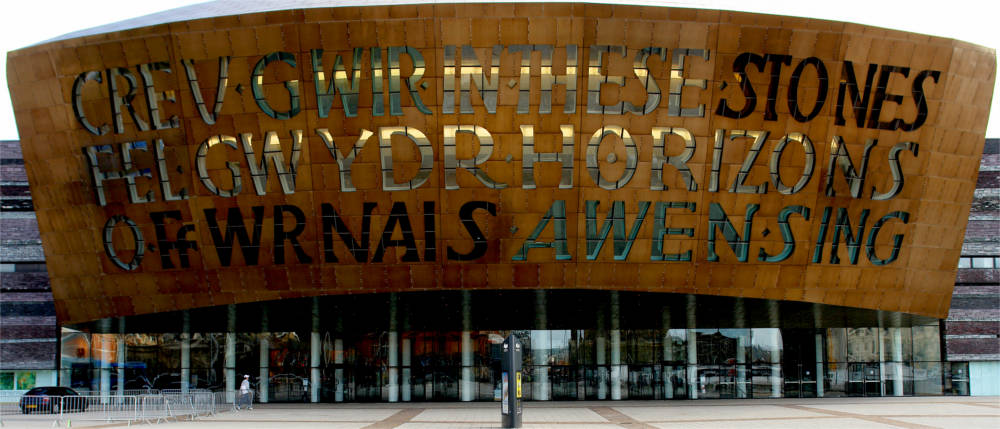 Millennium Centre in der Cardiff Bay