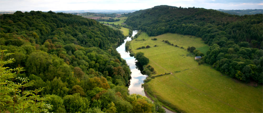 Fluss in Herefordshire