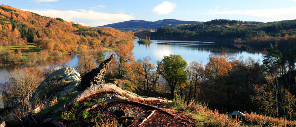 Landschaft im Trossachs Nationalpark