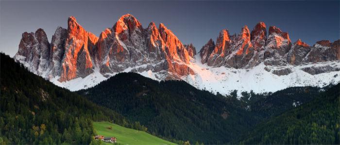 Berge der Dolomiten in Iatlien