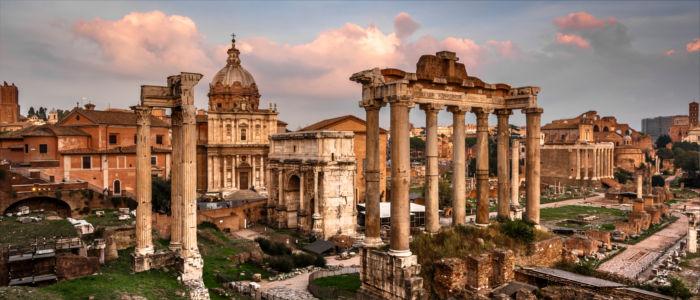 Forum Romanum in Rom in Italien