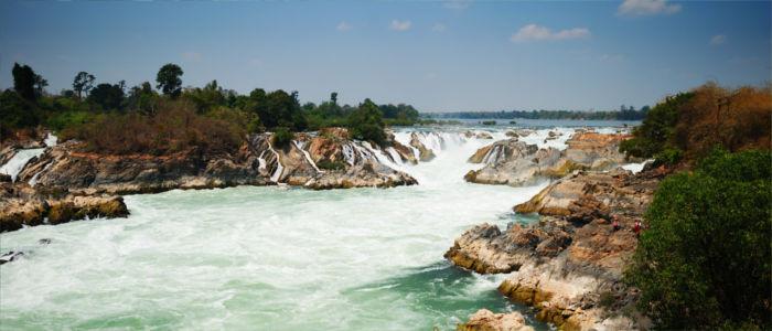 Mekongwasserfälle in Laos