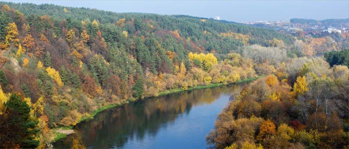 Der Fluss Neris in Litauen