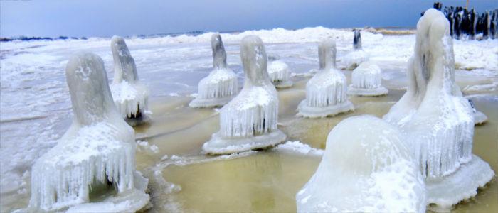 Gefrorene Ostsee in Litauen