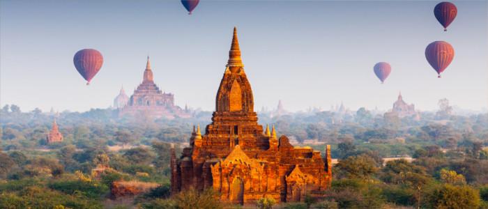 Tempel in Bagan in Myanmar