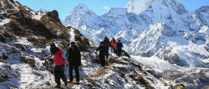 Berge erklimmen in Nepal