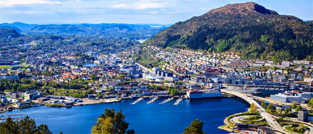Bergen in Fjordnorwegen