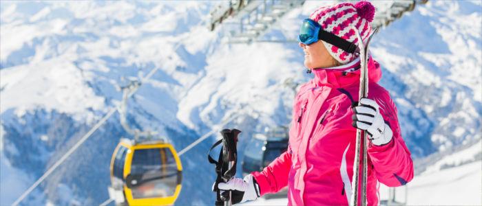 Wintersport in den Bergen von Österreich