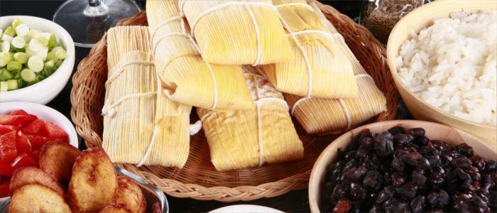 Tamales essen in Panama