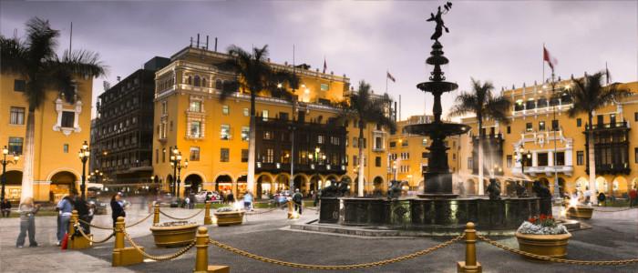 Hauptstadt Lima in Peru
