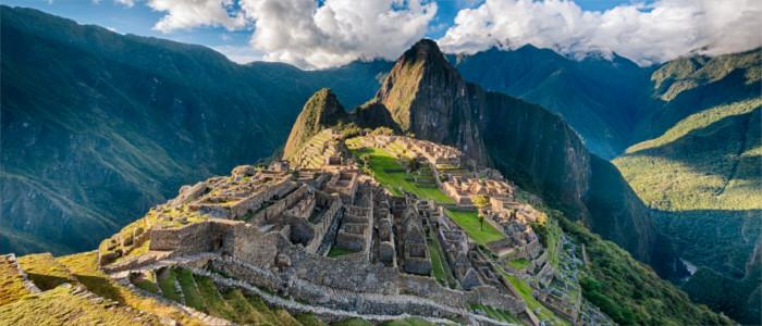 Machu Picchu in den Anden in Peru