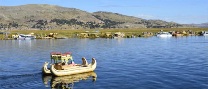 Bootsfahrt auf dem Titicaca-See