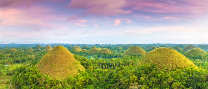Chocolate Hills der Philippinen