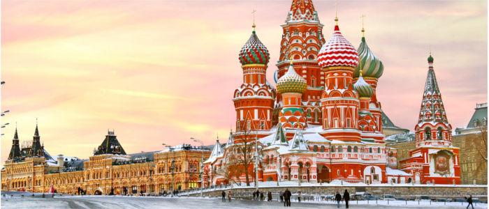 St Basilius Kathedrale am Roten Platz in Moskau, Russland