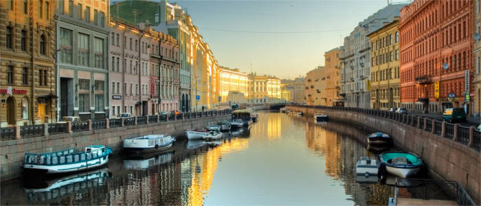 Kanal in Sankt Petersburg