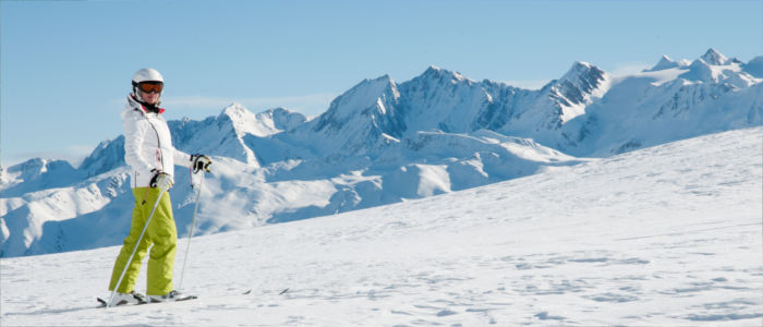 Skifahren in den Schweizer Alpen