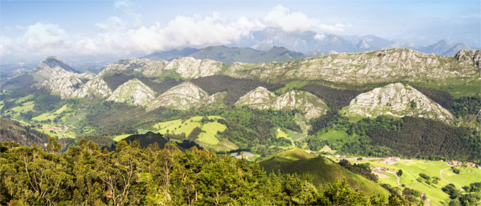 Bergpanorama in Asturien