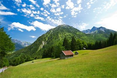 Typische Landschaft im Allgäu