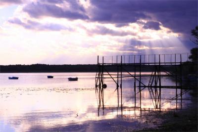 Fischerboote auf See