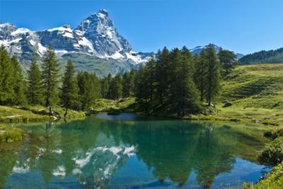 Bekannter Berg in den Alpen