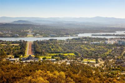 Blick auf die Hauptstadt Australiens