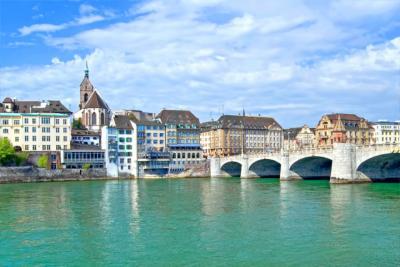 Basel mit Mittlerer Brücke und Münster