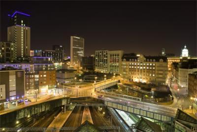 Birmingham bei Nacht