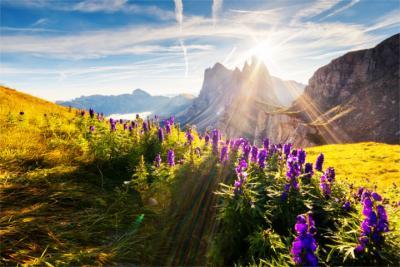 Berggipfel in den Dolomiten
