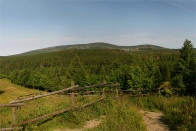 Blick über den Harz zum Brocken
