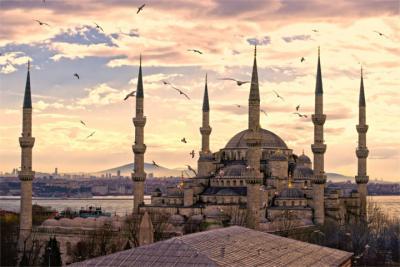 Berühmte Moschee in Istanbul
