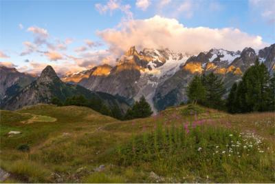 Berglandschaft der Alpen