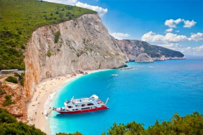 Der Strand von Katsiki auf Lefkada