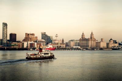 Blick auf Liverpool