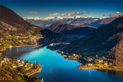 See bei Bergamo in der Lombardei