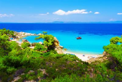 Ein Strand in Halkidiki