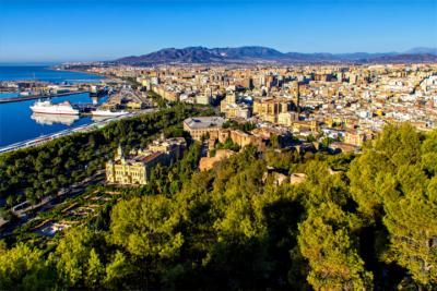 Panorama von Málaga