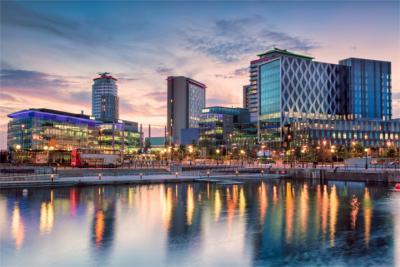 Blick auf Manchester